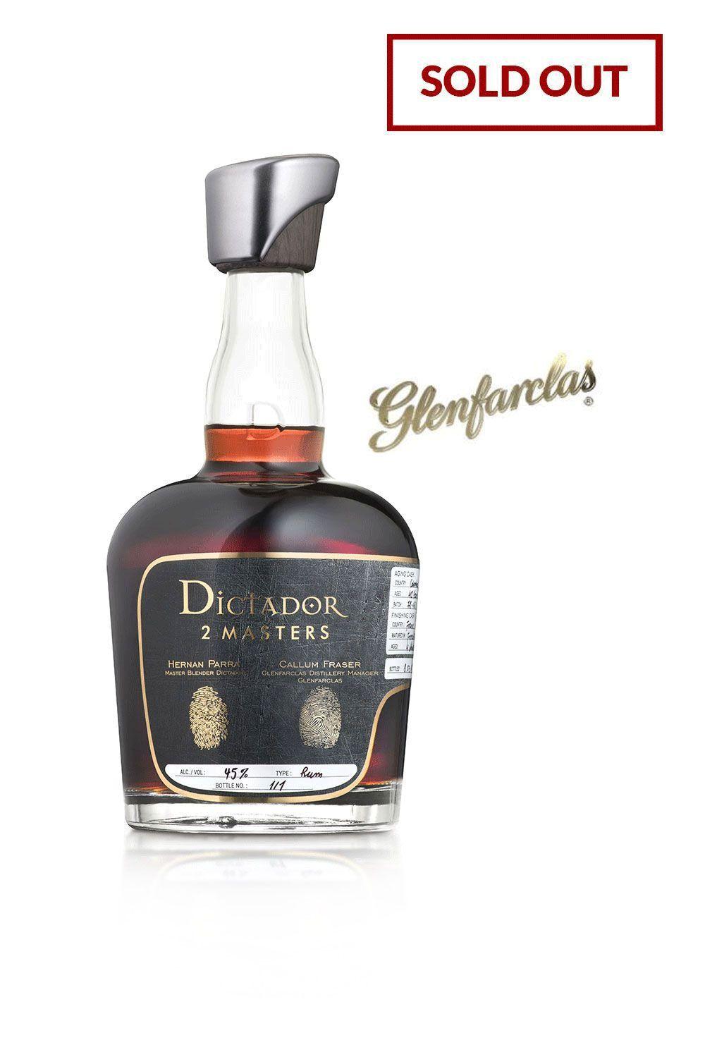 Rum Dictador 2 Masters Glenfarclas 1974