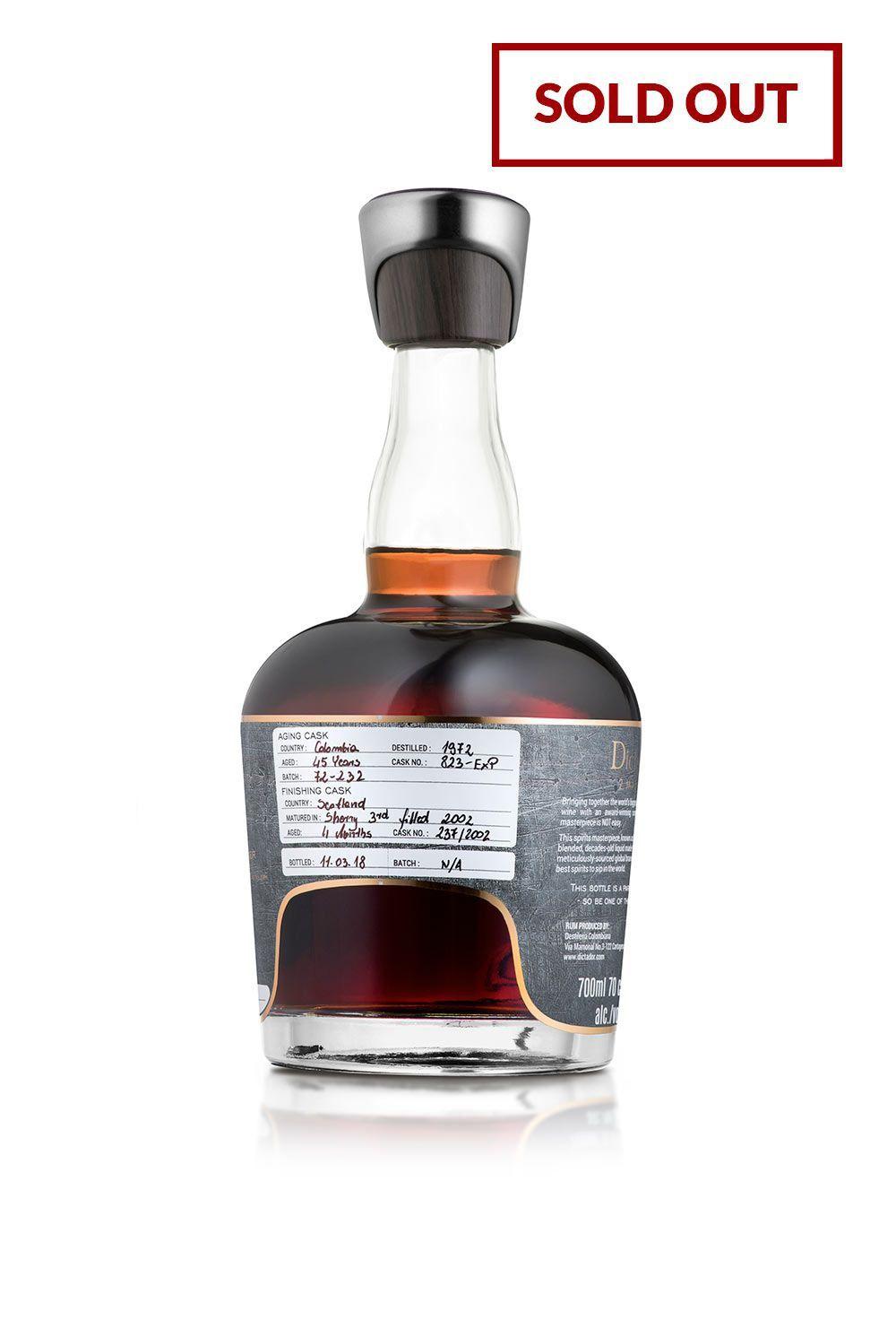 Rum Dictador 2 Masters Glenfarclas 1972