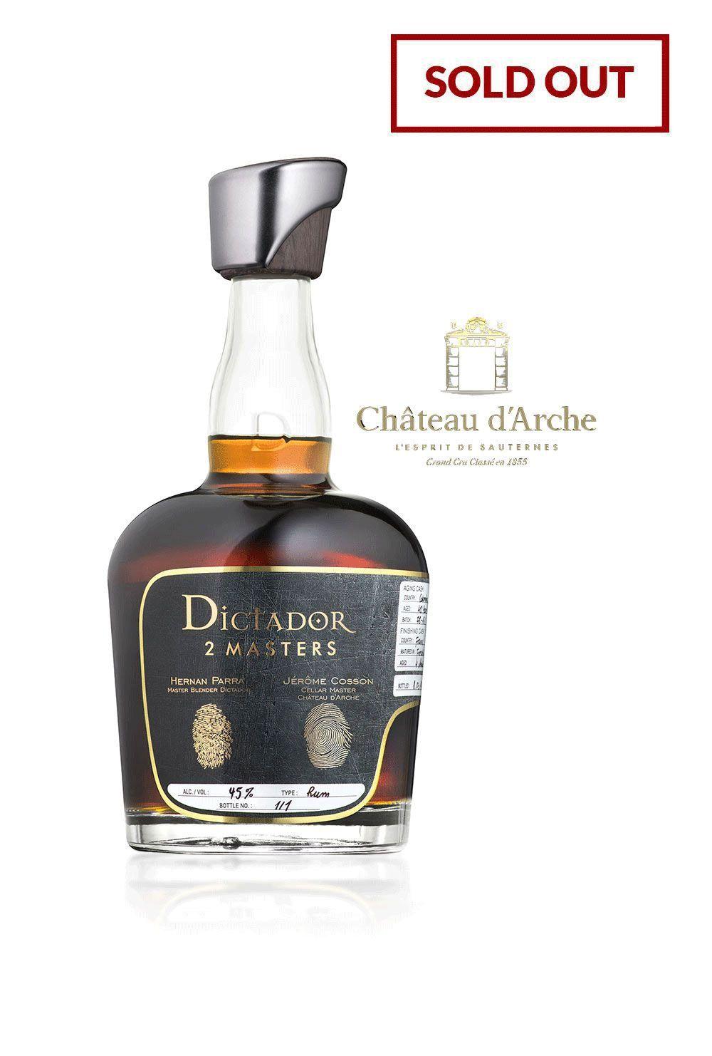 Rum Dictador 2 Masters Château d'Arche 1980